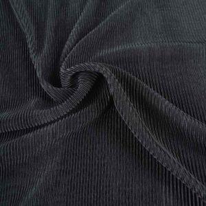 Pleated Satin Fabric 5 Black 148cm