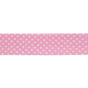 Dots Bias Binding Pink 20mm