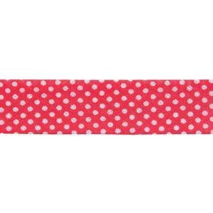 Dots Bias Binding Red 20mm