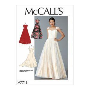 McCalls Sewing Pattern Misses Dresses M7718 6-14