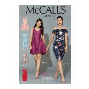 McCalls Sewing Pattern Misses Dresses M7719 14-22