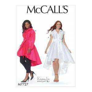 McCalls Sewing Pattern Misses Women Dress Tunic M7727 18W-24W