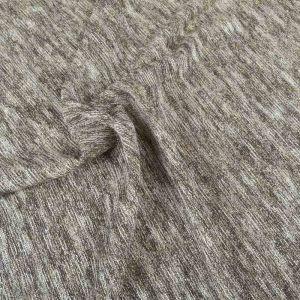 Italian Sparkle Knit Fabric Brown Gold 138cm
