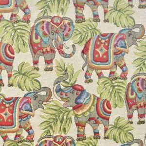 India Elephant Tapestry Fabric Multi 140cm