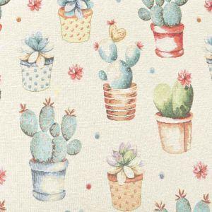Cactus Print Tapestry Fabric Multi 140cm
