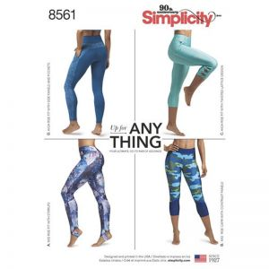 Simplicity Sewing Pattern Womens Leggings 8561AA XS-XL