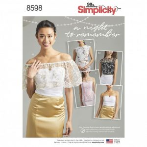 Simplicity Sewing Pattern Womens Special Occasion Tops 8598AA 8-16