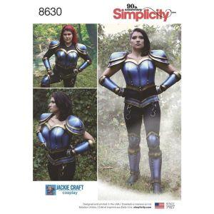 Simplicity Sewing Pattern Womens Cosplay Armor 8630U5 16-24