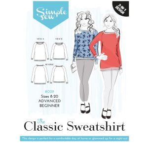 Simple Sew Pattern The Classic Sweatshirt 8-20