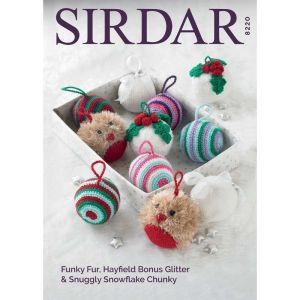 Sirdar Funky Fur Hayfield Bonus Glitter Snowflake Chunky Pattern 8220