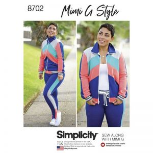 Simplicity Sewing Pattern Womens Knit Jacket Pant and Leggings 8702U5 16-24