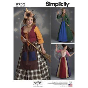 Simplicity Sewing Pattern Womens Costumes 8720U5 16-24