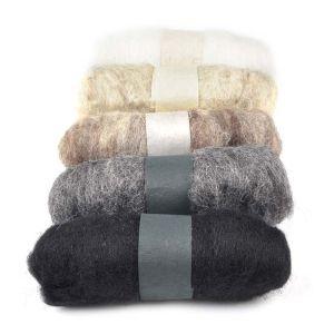 Felting Fibre Wool Asstd 20g 5 Rolls Natural 100g