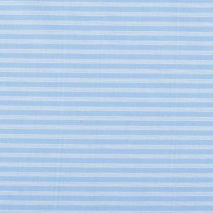 Italian Made Classic Cotton Stripe Shirting Fabric Blue White 150cm
