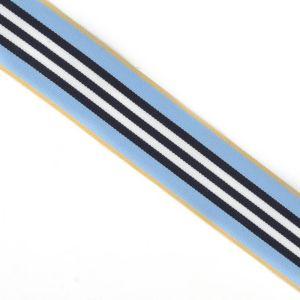Stripe Ribbon Blue Black 40mm
