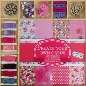 Card Making Set Pink Mix 1 x 19.5 x 19.5