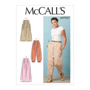 McCalls Sewing Pattern Misses Pants M7907E5 14-22