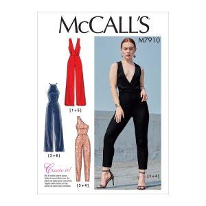 McCalls Sewing Pattern Misses Jumpsuits M7910E5 14-22
