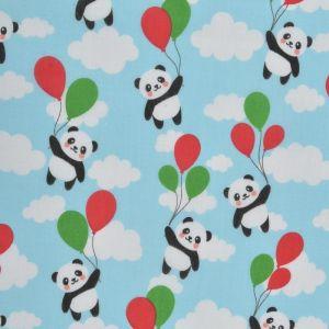 Panda Poly Cotton Fabric Multi 110cm