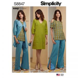Simplicity Sewing Pattern Misses and Petite Easy To Sew Sportswear 8847H5 6-14