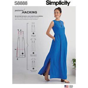Simplicity Sewing Pattern Misses Design Hacking Kimono 8888A XXS-XXL