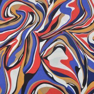 Swirl Print Jersey Fabric 15 Multi 155cm