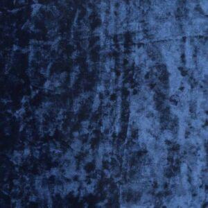 Plain Crushed Velour Fabric 14 Navy 160cm