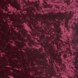 Plain Crushed Velour Fabric 22 Wine 160cm