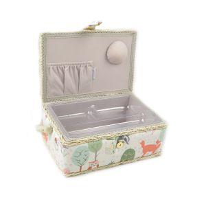 Small Sewing Box Woodland Multi 24 x 16 x 11cm