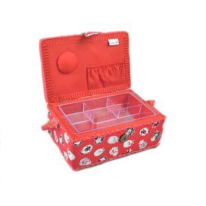 Small Sewing Box Dotty Sheep Multi 15 x 23.5 x 10cm