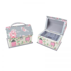 Cottage Sewing Box Multi 20 x 27 x 19cm