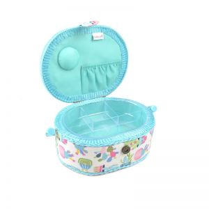Small Oval Sewing Box Cactus Party Multi 18 x 23 x 10cm