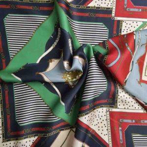 Italian Made Grandiose Double Weave Viscose Print Fabric Wine Green 150cm