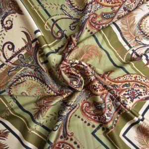 Italian Made Classico Double Weave Viscose Print Fabric Sage 150cm
