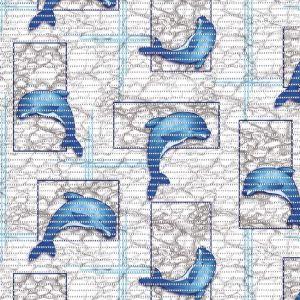 Dolphin Flexi Mat Fabric Blue 65cm