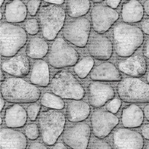 Pebbles Flexi Mat Fabric Grey 65cm