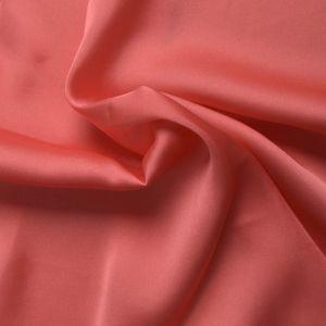 Plain Satin Chiffon Fabric 37 Coral 145cm