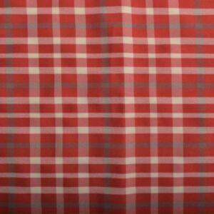 Spandex Check Fabric 12 Red 145cm