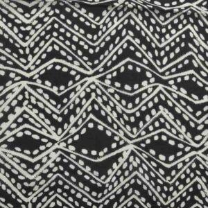 Maze Print Javanaise Viscose Fabric 5 Black Beige 150cm