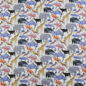 Liberty Tana Lawn Fabric Queue For The Zoo Multi 136cm