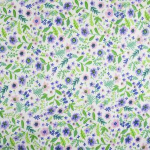 Meadow Print Viscose Fabric Green 145cm