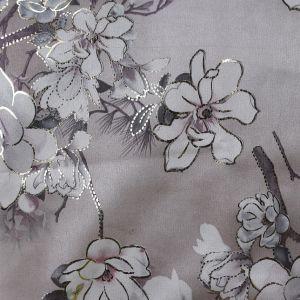 Metallic Floral Suede Scuba Fabric LS4-5 Blush Pink 147cm