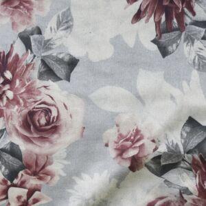 Floral Suede Scuba Fabric HS3-1 Grey 147cm