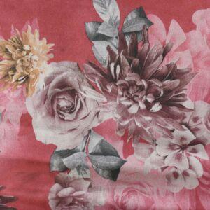Floral Suede Scuba Fabric HS3-2 Red 147cm