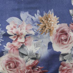 Floral Suede Scuba Fabric HS3-4 Purple 147cm