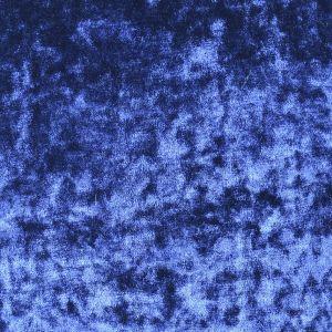 Plain Crushed Velour Fabric 14 Blue 147cm
