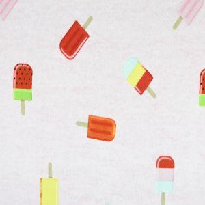 Ice Lollies Cotton Interlock Jersey Fabric Pink 155cm
