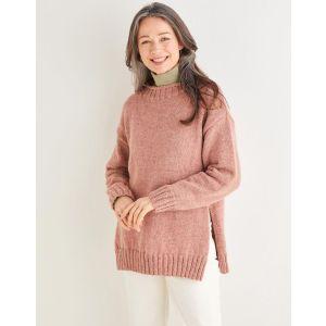 "Sirdar Saltaire Womens Split Seam Sweater 10177 81-137cm 32-54"""