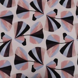 Fan Print Cotton Lawn Fabric 6016-2 Blue 145cm