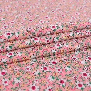 Mini Floral Print Cotton Poplin Fabric F1362-1 Pink 145cm